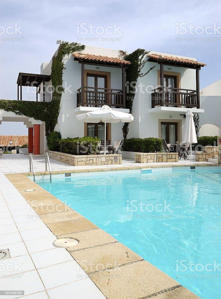 Modern luxury villa with swimming pool royalty-free stock photo
