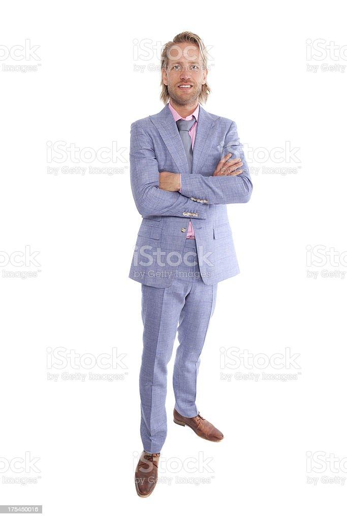 Modern man stock photo