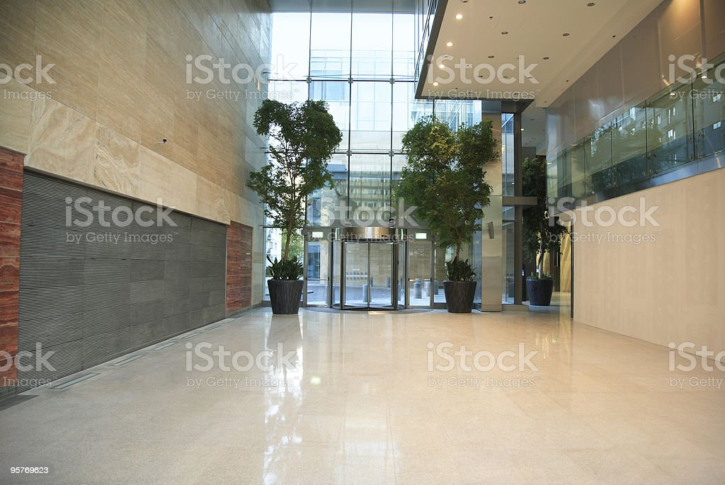 Modern Marble Hallway in Office Building royalty-free stock photo