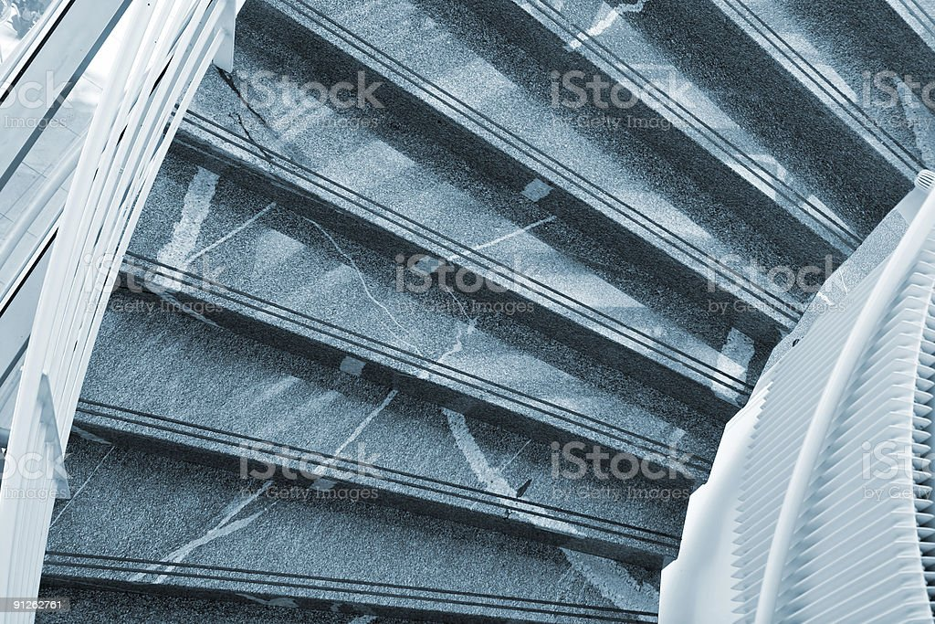Modern Marble Stairs royalty-free stock photo