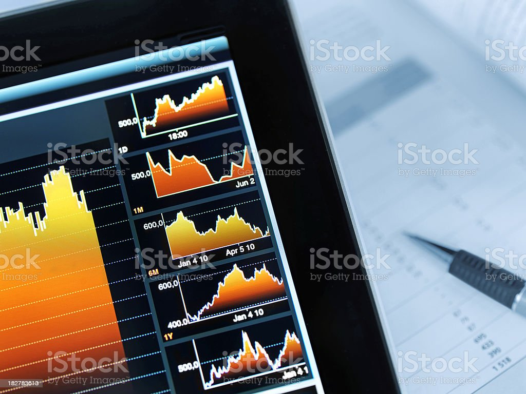 Modern Market Analyze stock photo