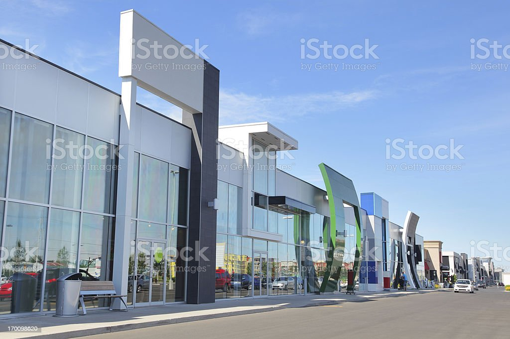 Modern Marketplace Buildings stock photo