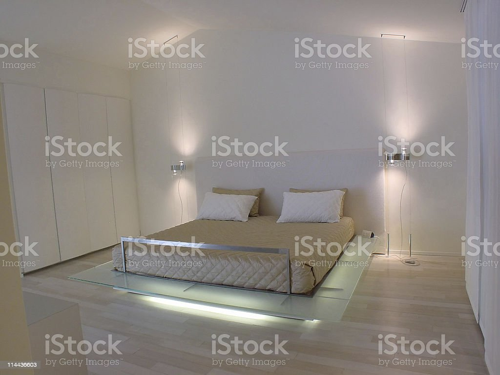 modern master bedroom royalty-free stock photo