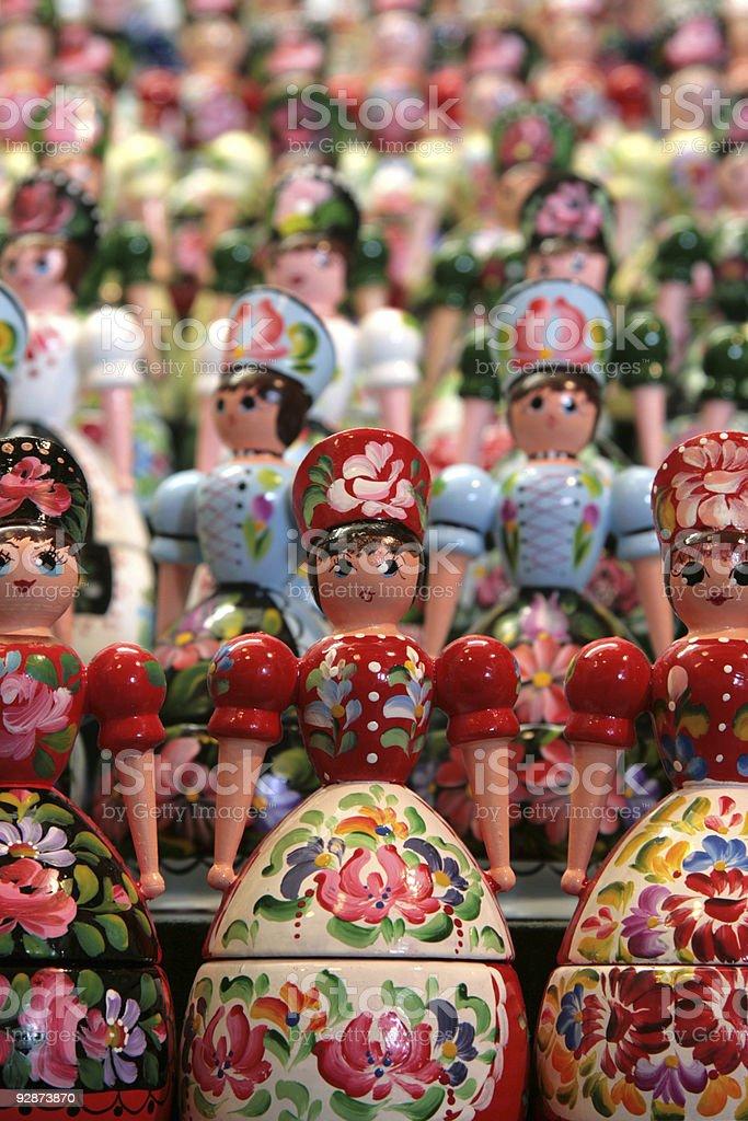 Modern matryoshka dolls royalty-free stock photo