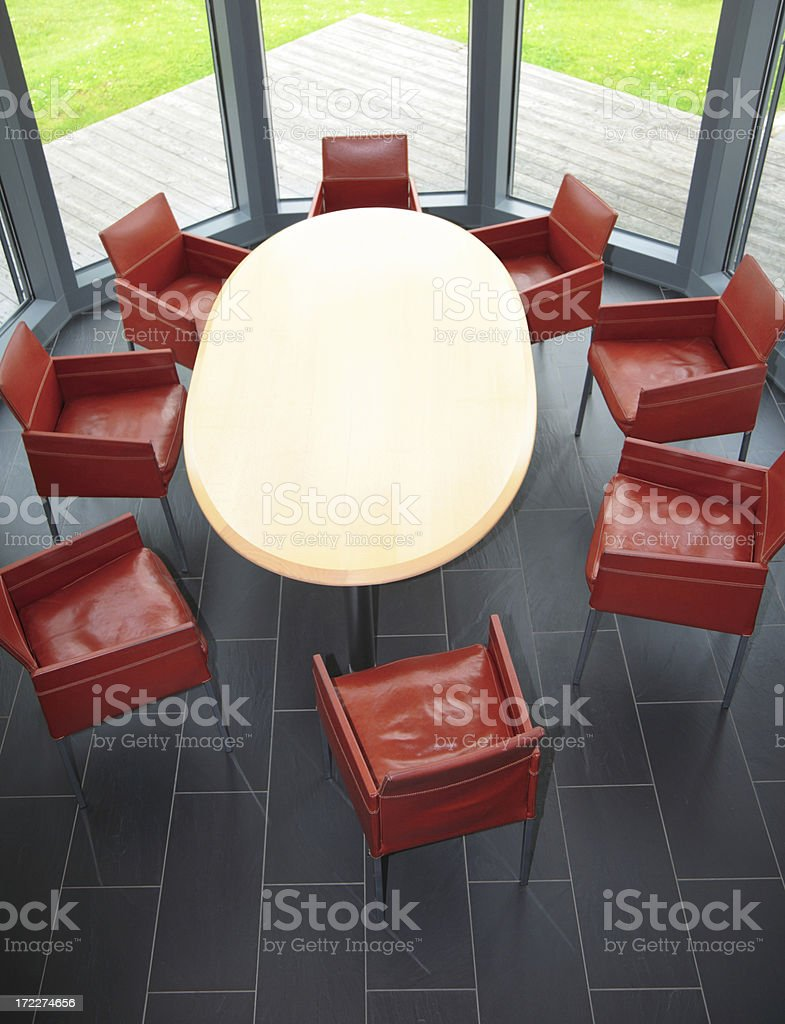 Modern Meeting Room, Elevated View royalty-free stock photo