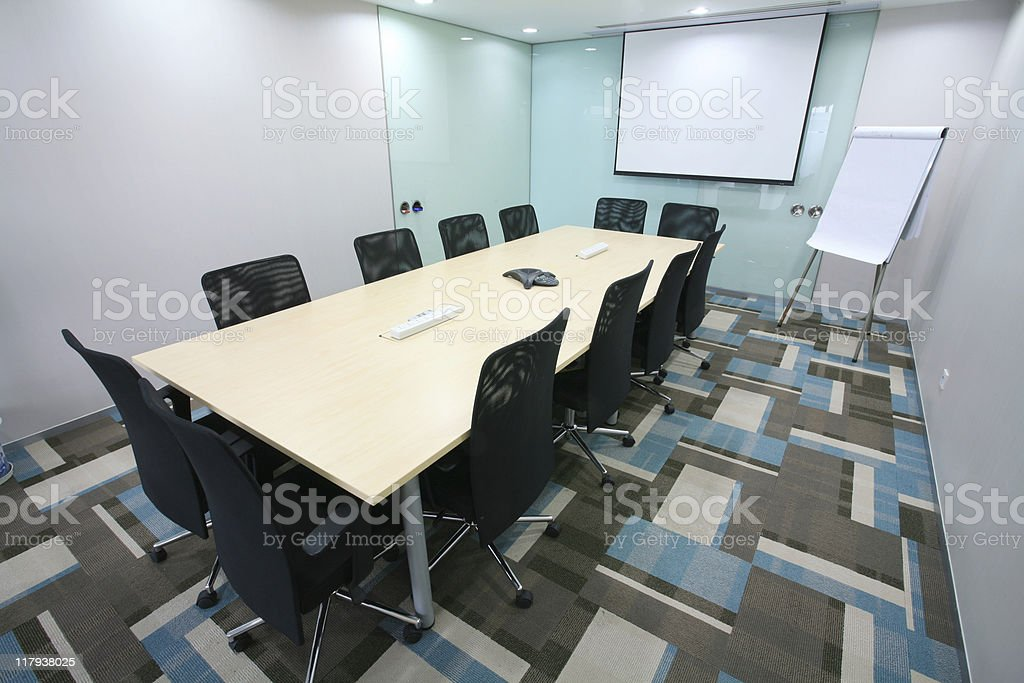 modern meeting room interior royalty-free stock photo