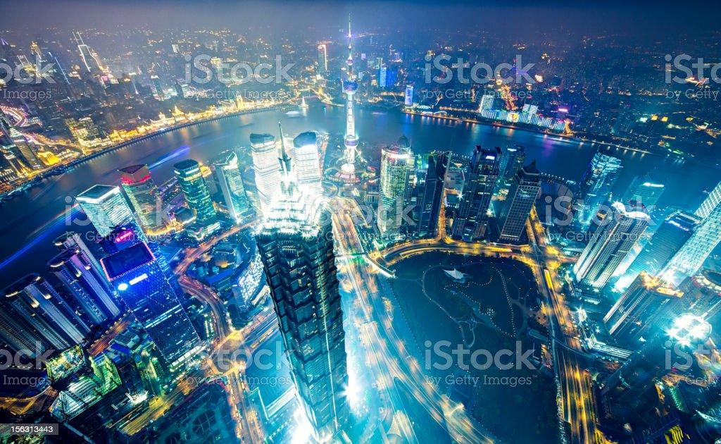 Modern megapolis - Shanghai royalty-free stock photo