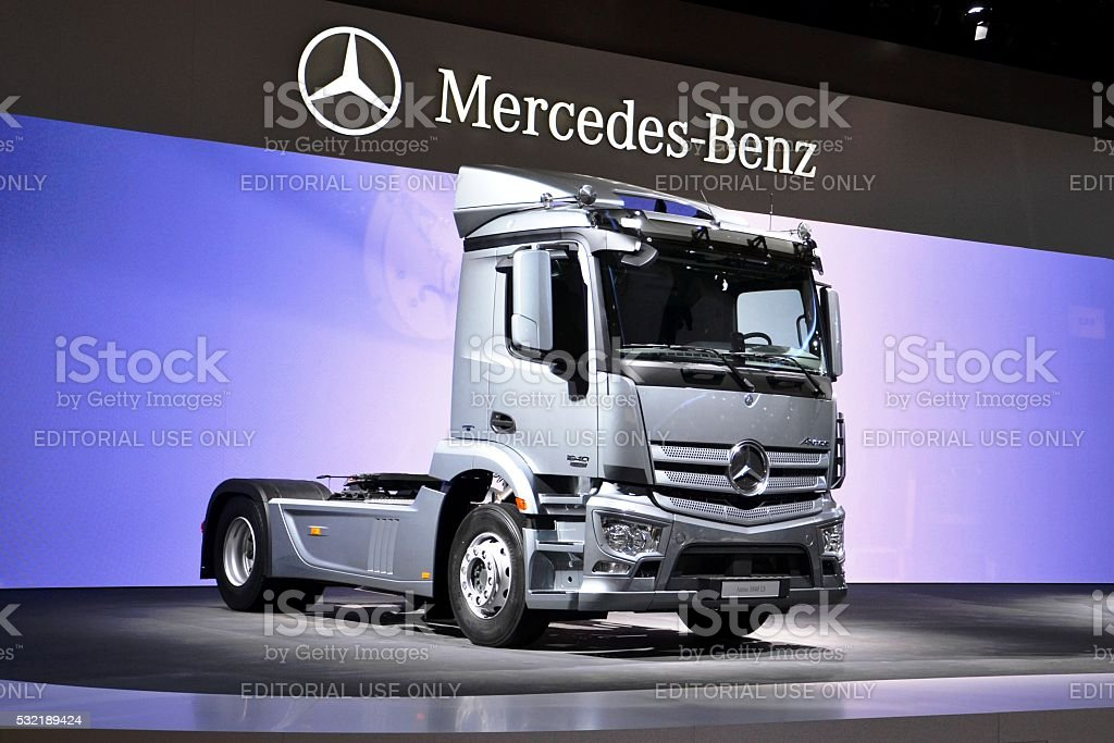 Modern Mercedes truck stock photo