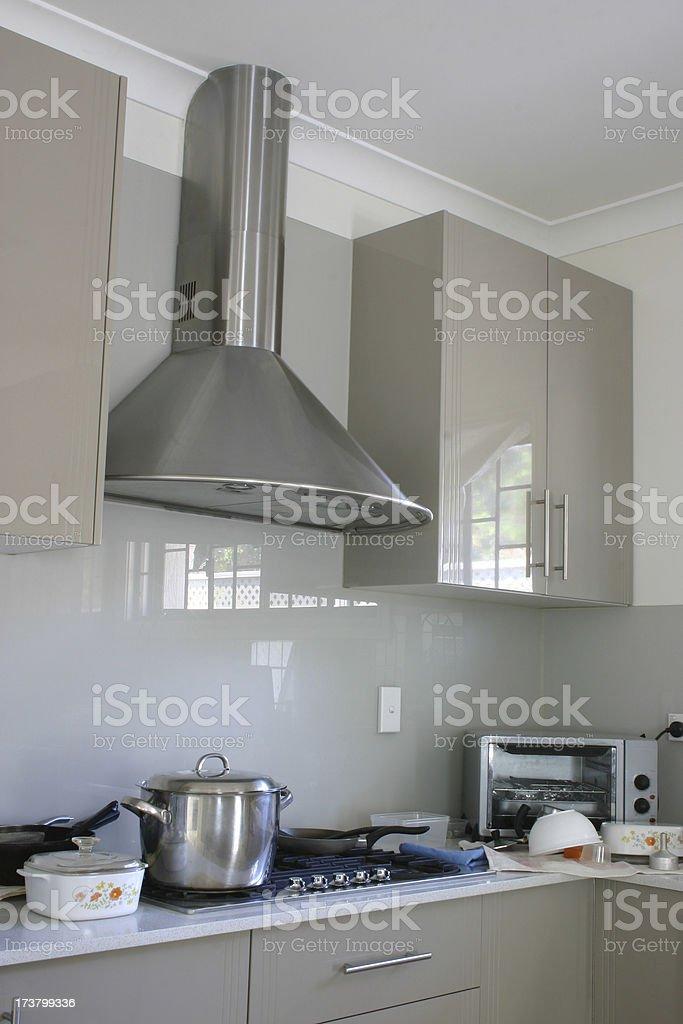 Modern & Messy Kitchen royalty-free stock photo