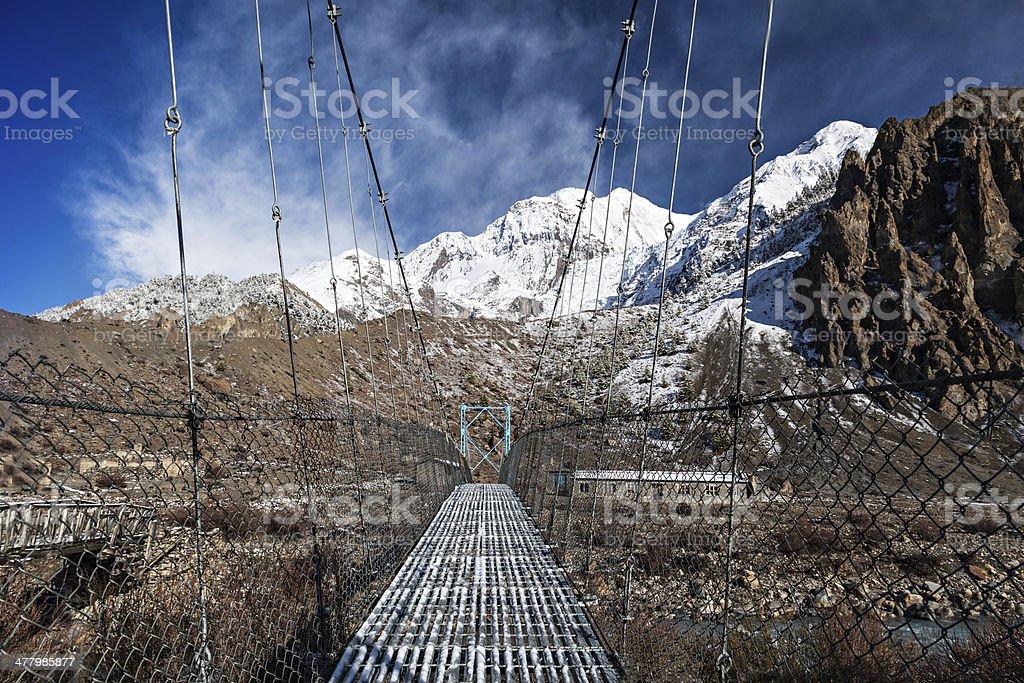 Modern metal bridge royalty-free stock photo