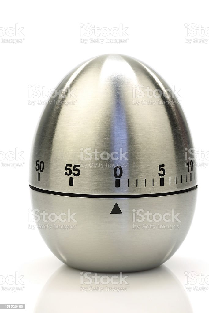 modern metal kitchen timer stock photo