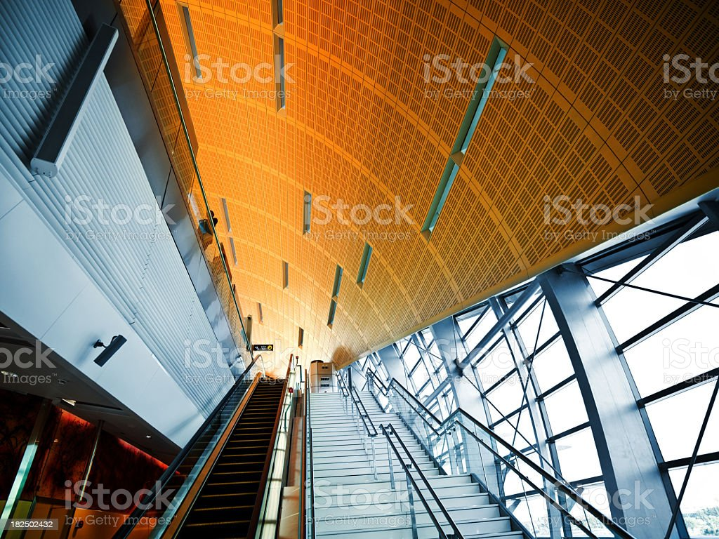Modern Metro Station stock photo