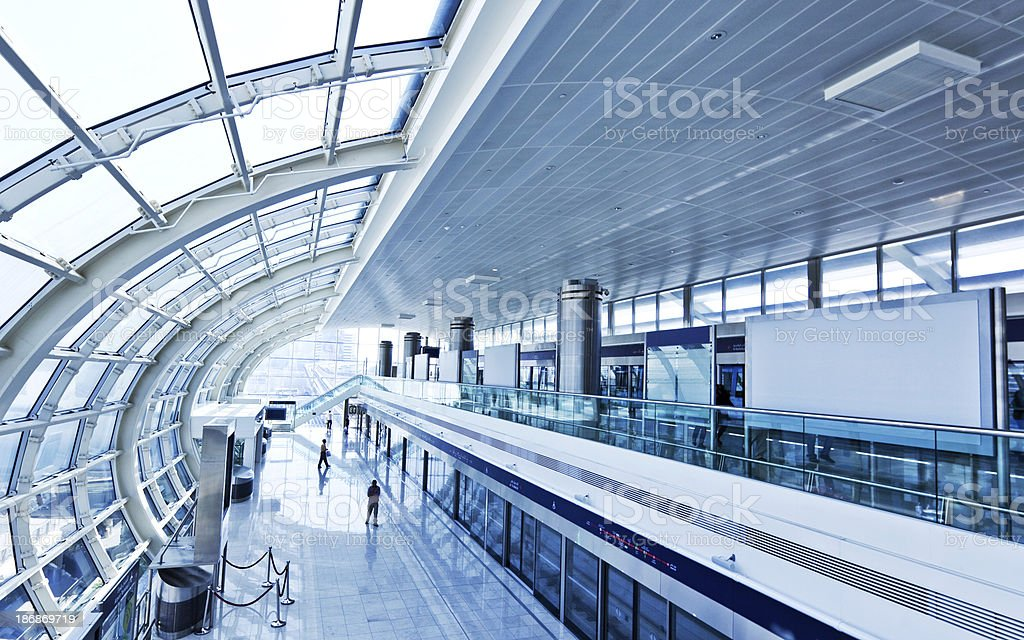 Modern Metro Station royalty-free stock photo