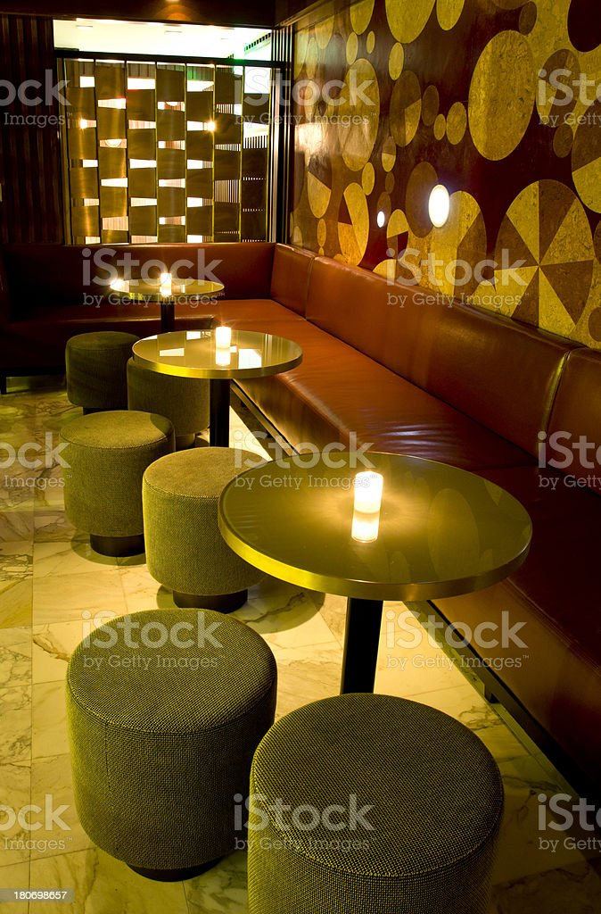 Modern Miami Nightclub Lounge Area Seating Royalty Free Stock Photo