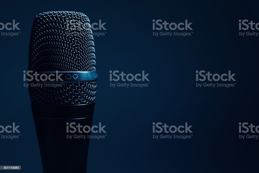 Modern Microphone Details stock photo