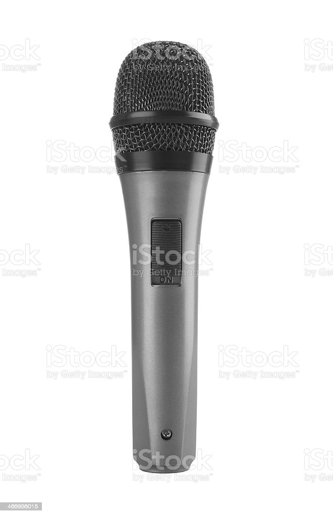 Modern microphone royalty-free stock photo