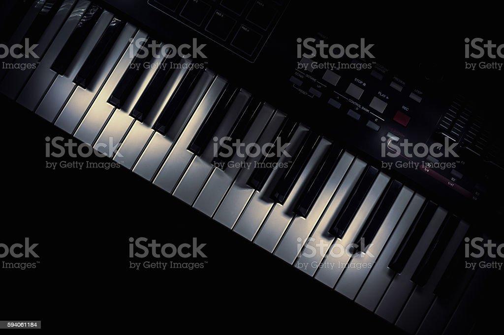 Modern Midi Keyboard Controller stock photo