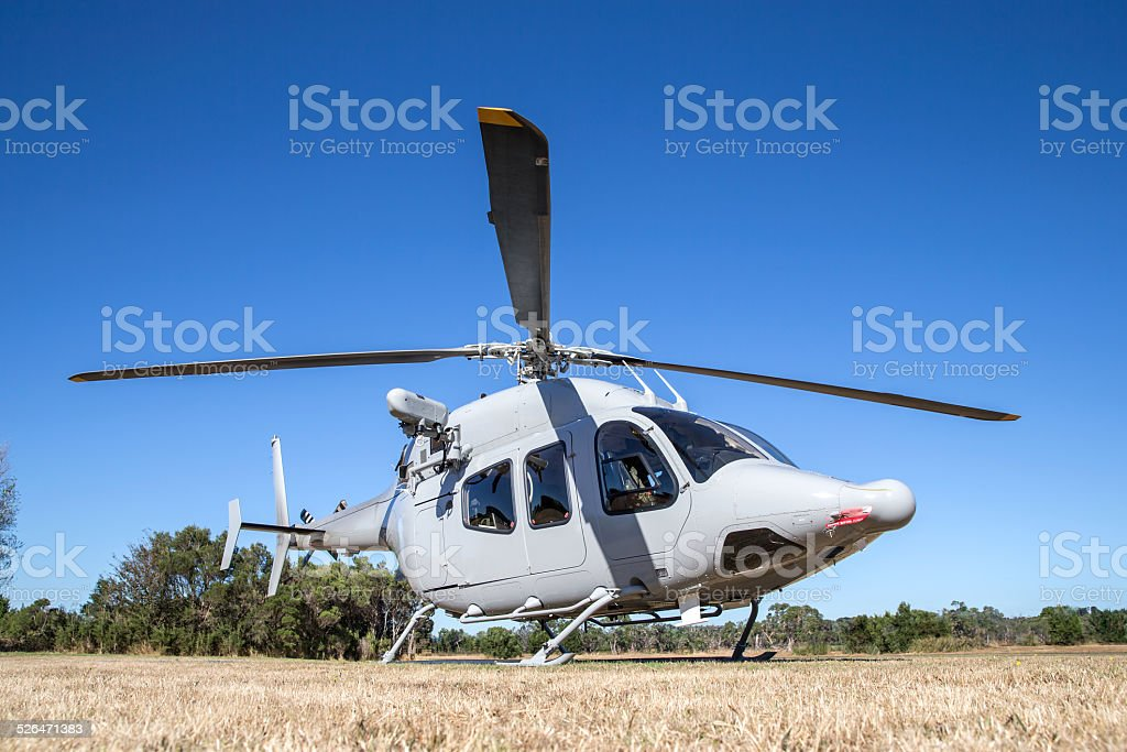 Modern Military Helicopter stock photo