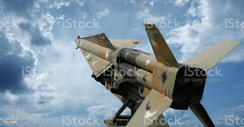 Modern Military Missile stock photo