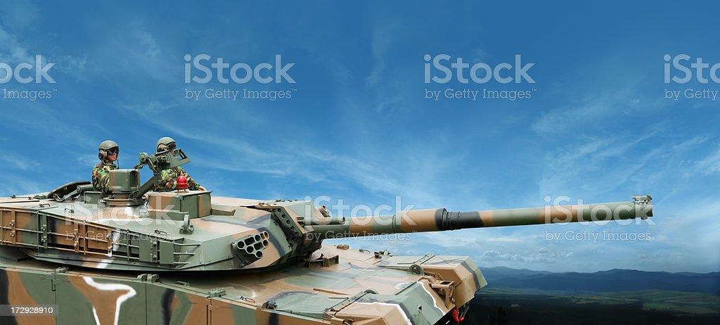 Modern Military Tank stock photo