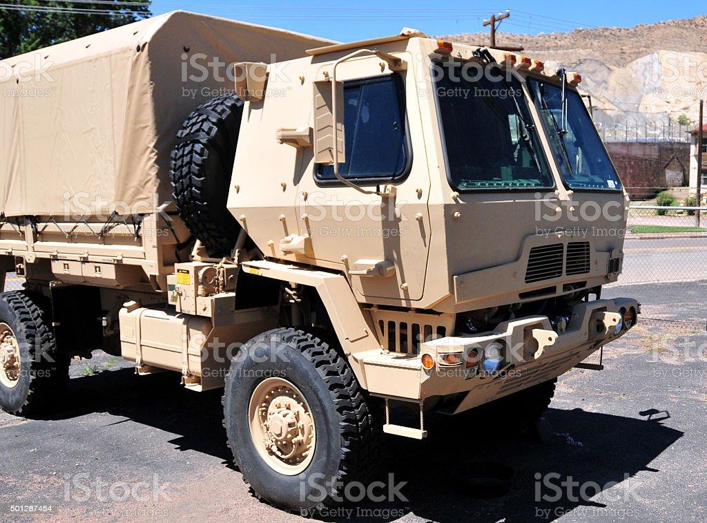 Modern military truck, Medium Tactical Vehicle stock photo