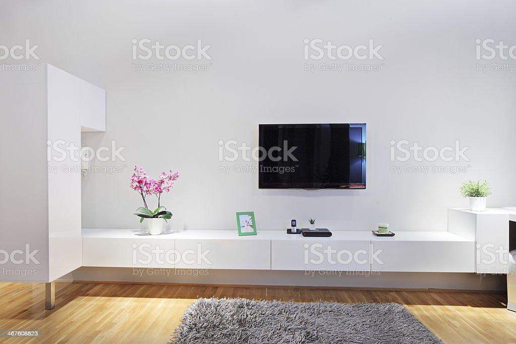 Modern minimal living room royalty-free stock photo
