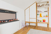 Modern minimalism made cosy in children's room decor