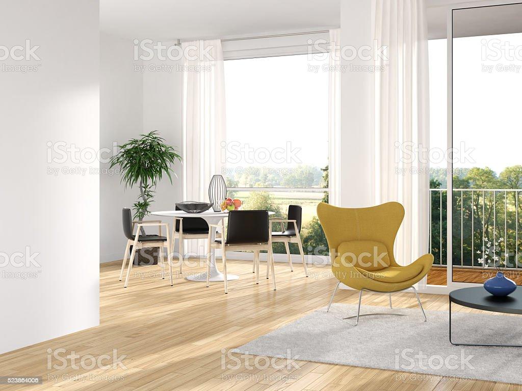 Modern minimalist interior stock photo