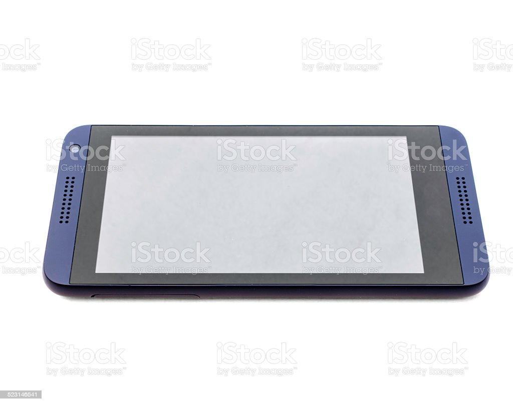 Modern mobile phone on white stock photo