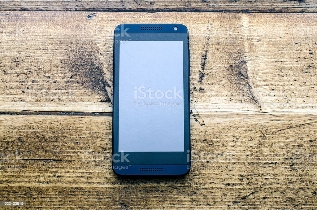 Modern mobile phone stock photo