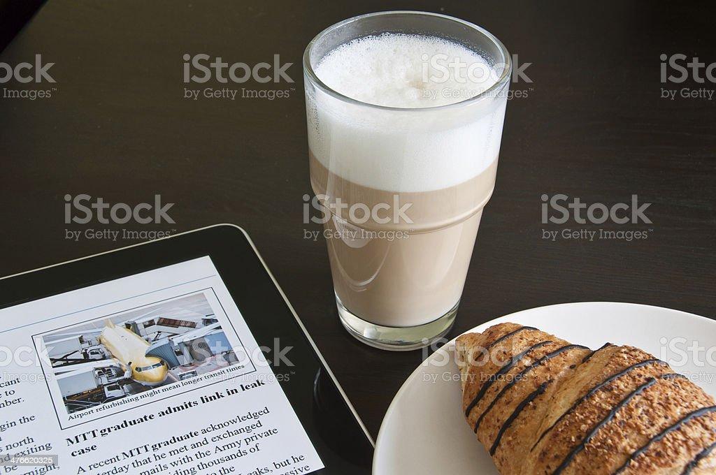Modern Morning News royalty-free stock photo