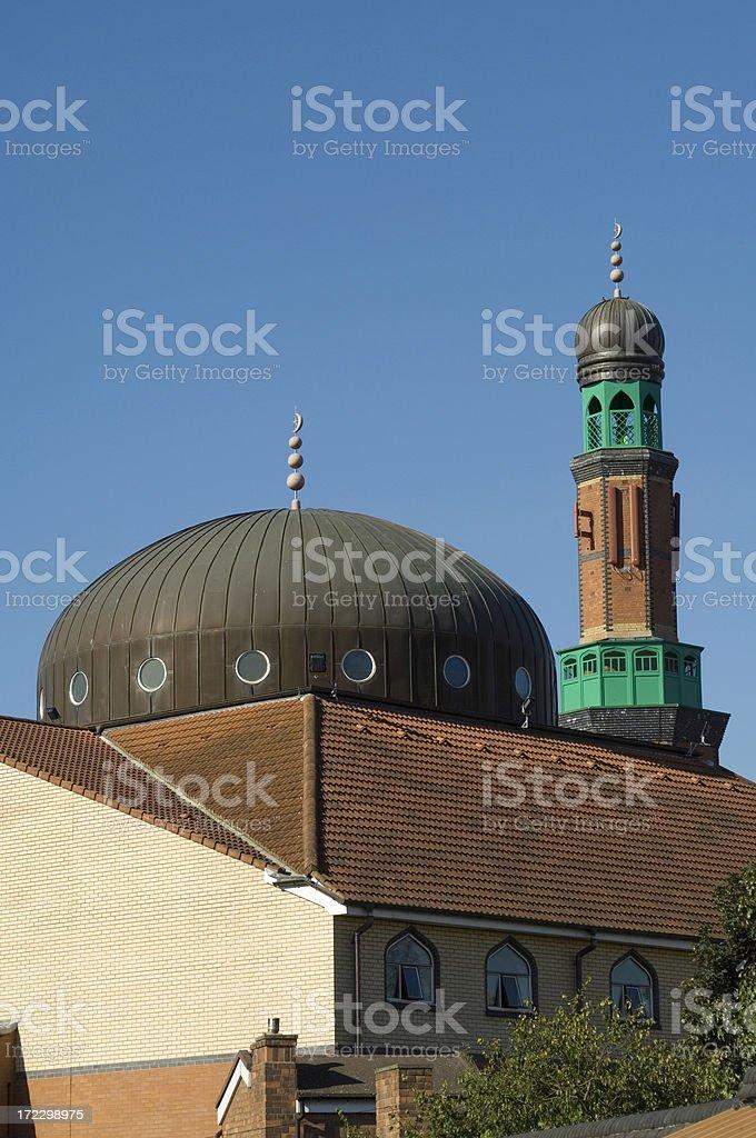 Modern Mosque Birmingham UK royalty-free stock photo