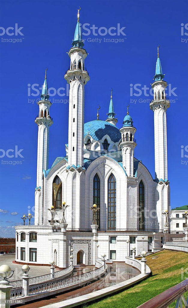Modern mosque royalty-free stock photo