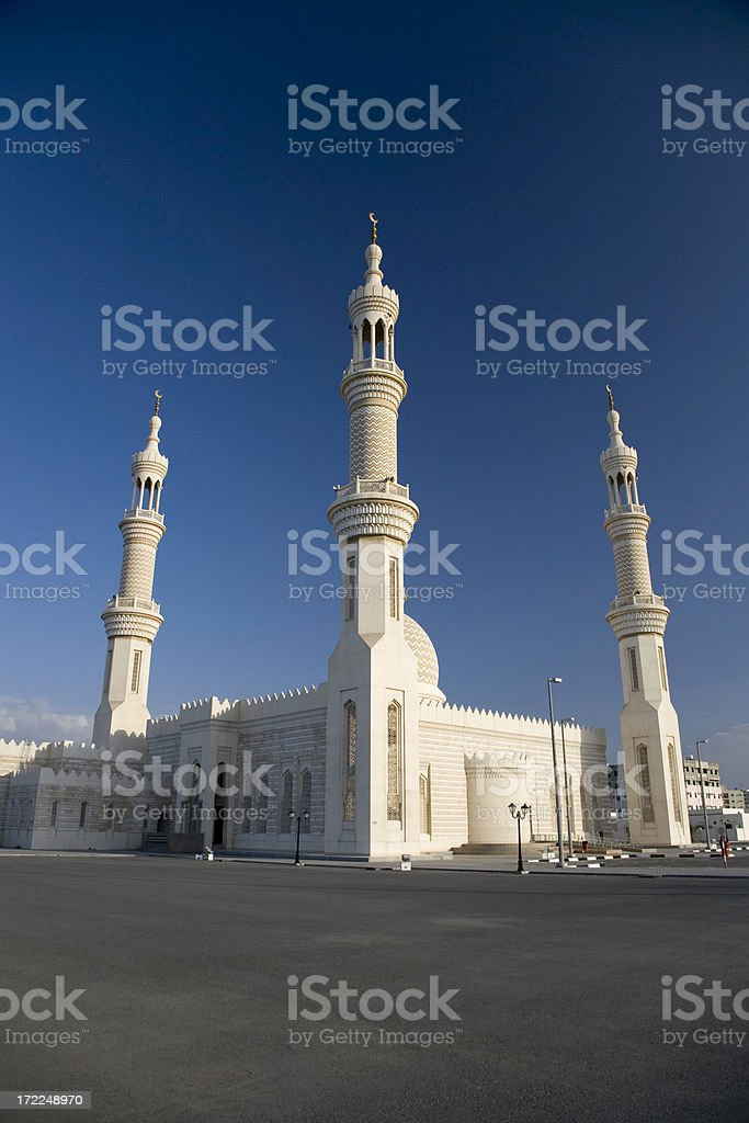 Modern Mosque Ras Al Khaimah United Arab Emirates stock photo
