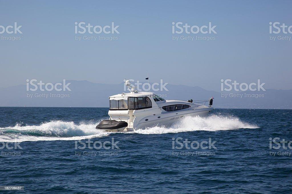 Modern Motor Yacht Cruises royalty-free stock photo
