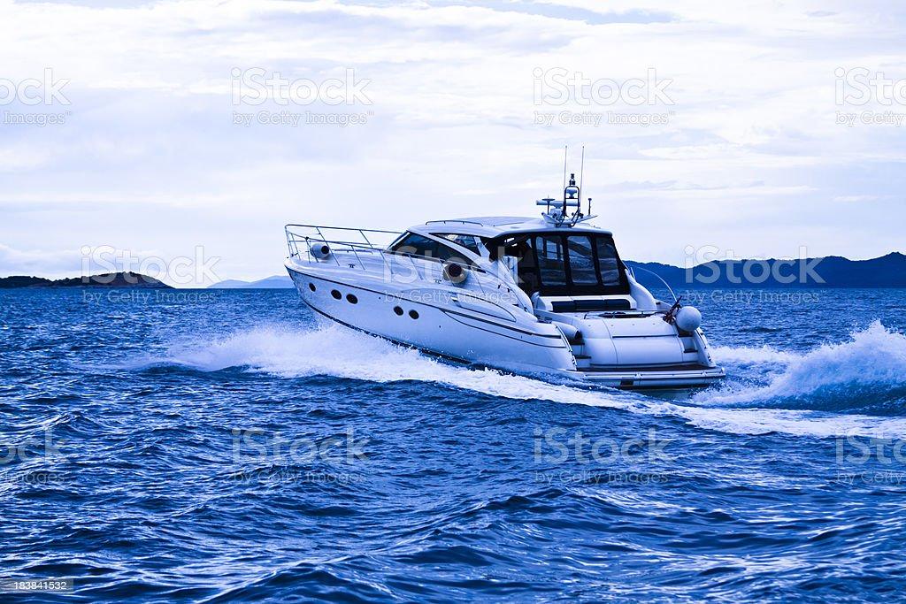 modern motorboat royalty-free stock photo