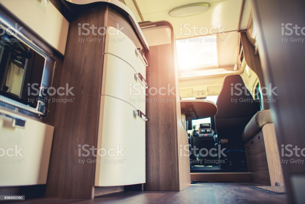 Modern Motorhome Interior stock photo