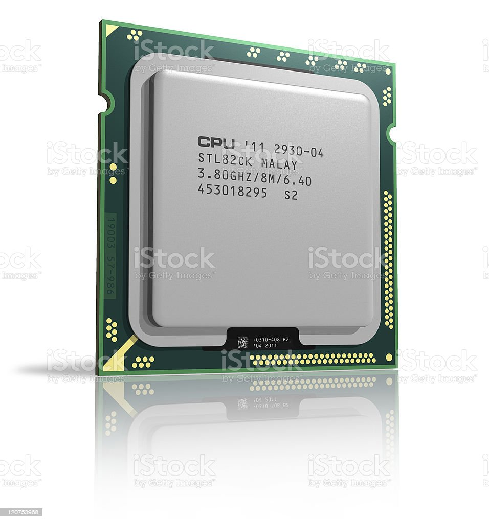 Modern multicore CPU royalty-free stock photo