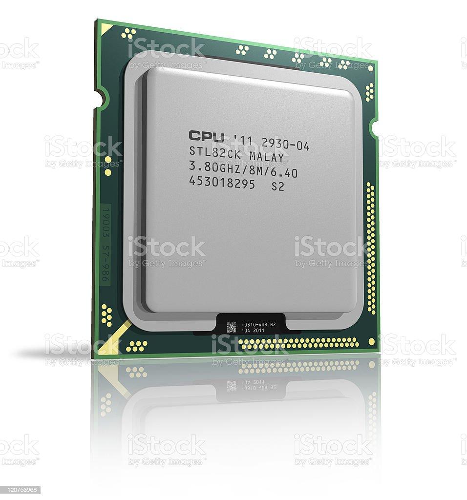 Modern multicore CPU stock photo