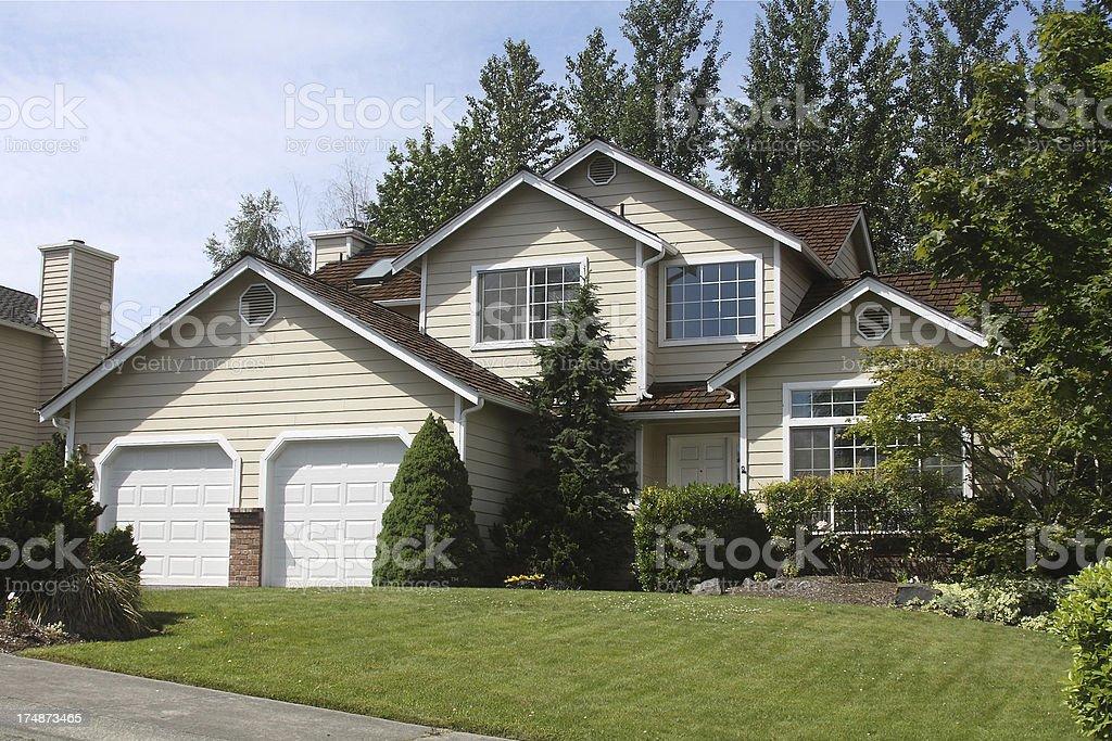 Modern Multi-level Home royalty-free stock photo