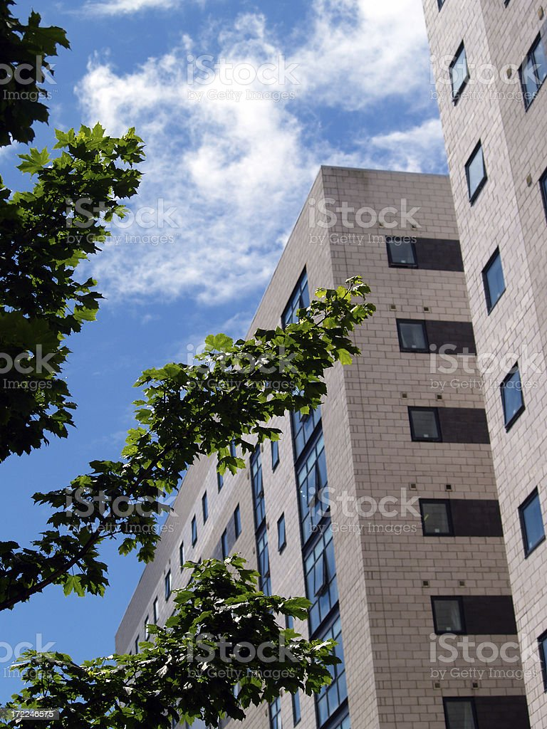 Modern multi-storey student apartments in Liverpool royalty-free stock photo