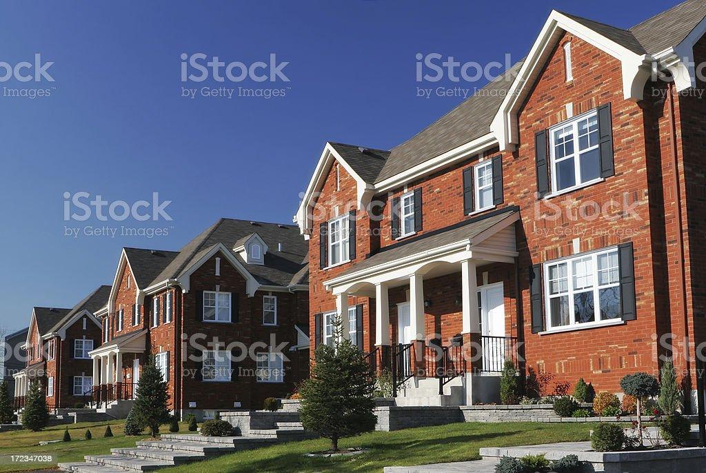Modern Neighborhood royalty-free stock photo