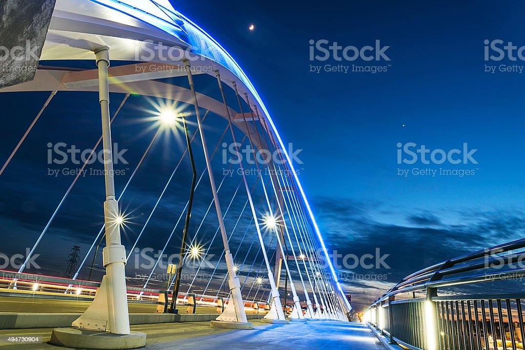 Modern New Lowry Bridge Walkway, Minneapolis. stock photo