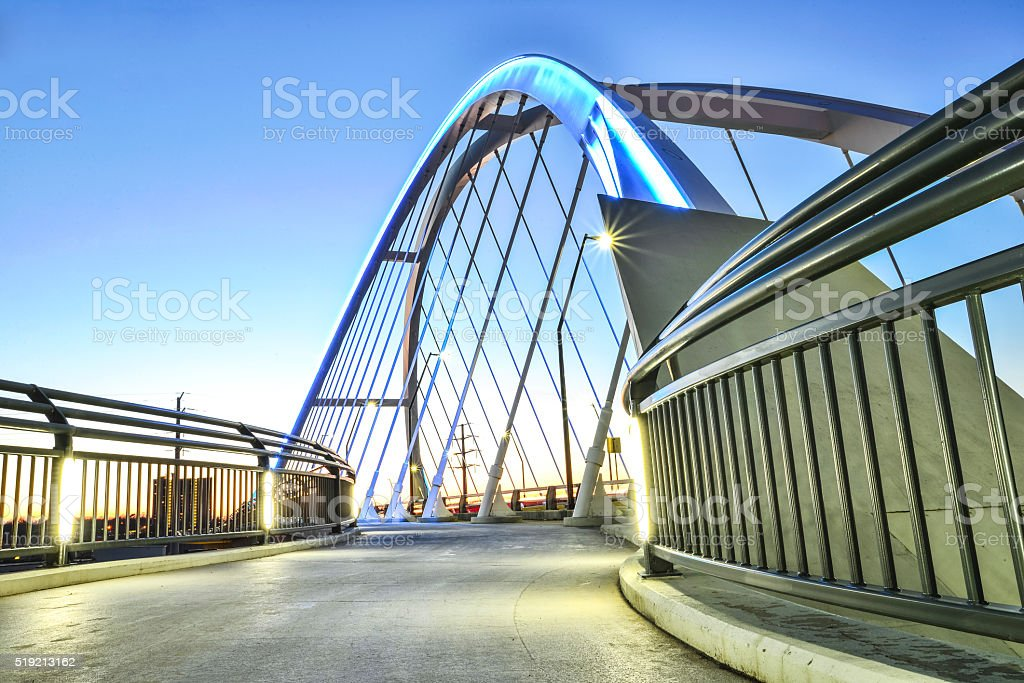 Modern New Lowry Bridge Walkway, Minneapolis. stock photo