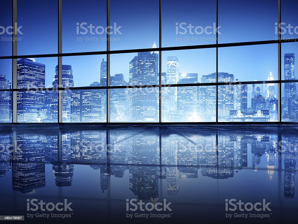 Modern New York City Interior Design stock photo