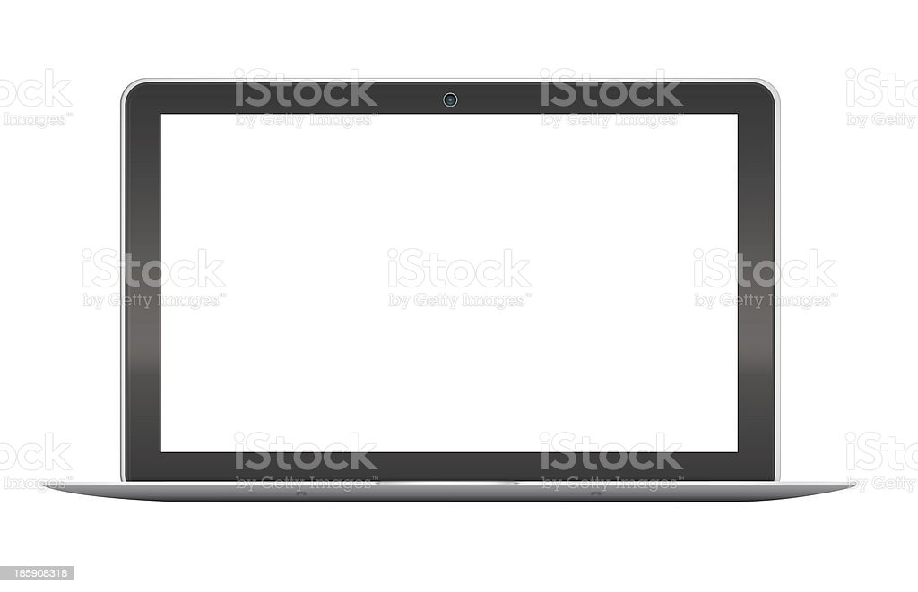 Modern notebook on white background stock photo