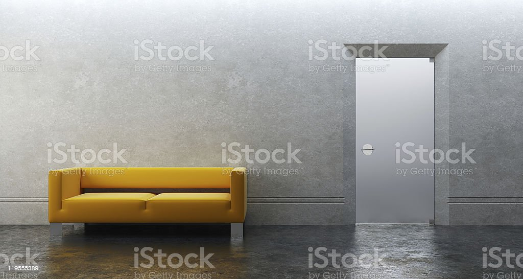modern office 3d render royalty-free stock photo