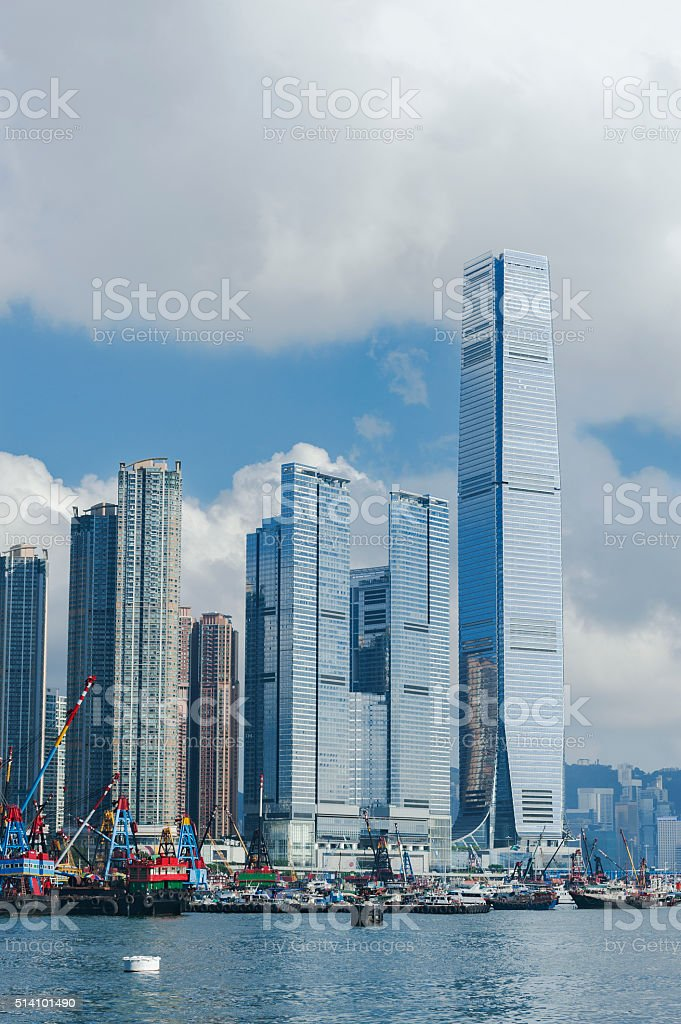 Modern office and residential building stock photo