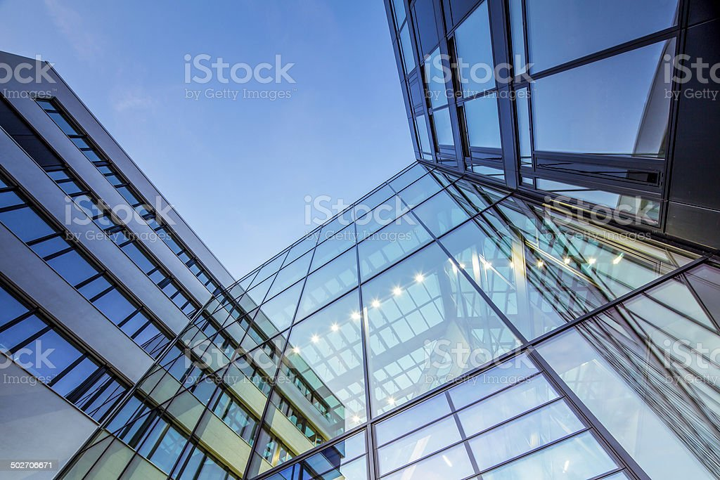 Modern Office Architecture, Hamburg HafenCity University stock photo