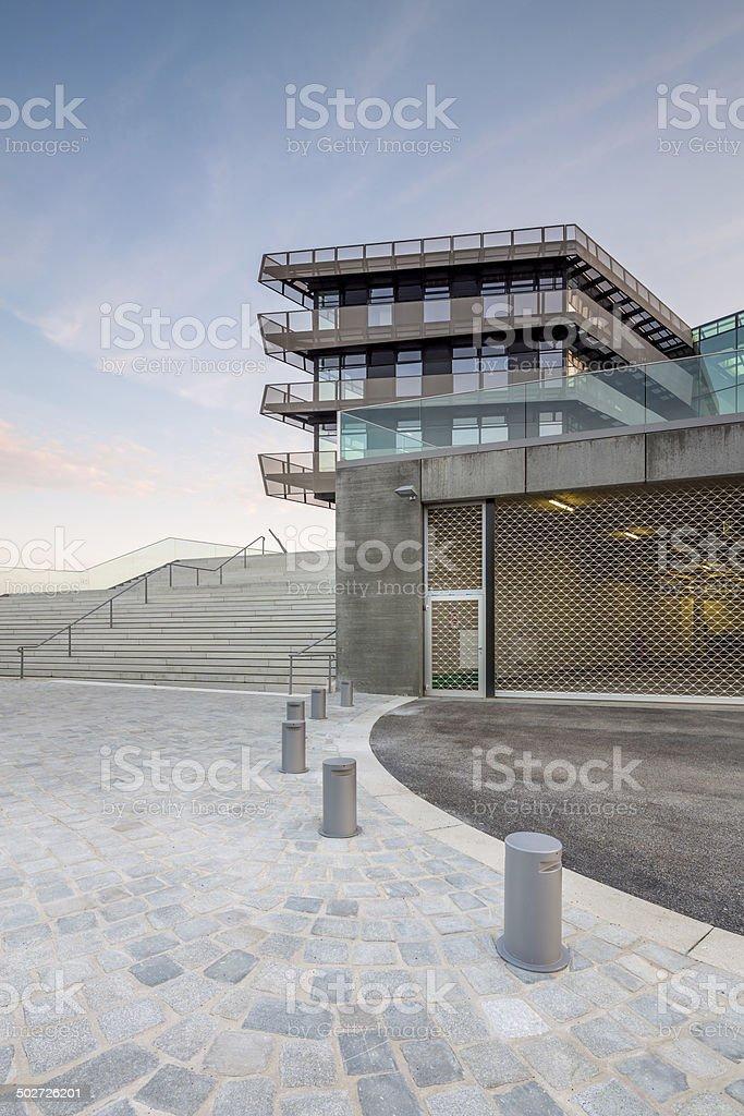 Modern Office Architecture, Hamburg HafenCity University royalty-free stock photo